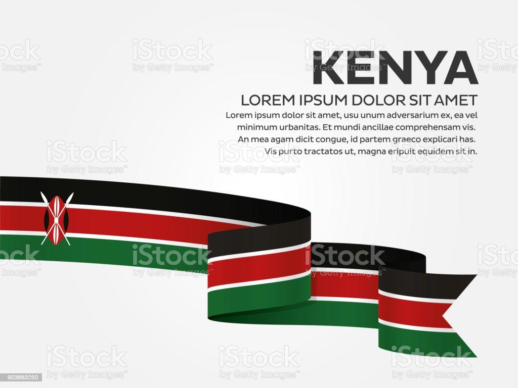 Kenya flag background vector art illustration
