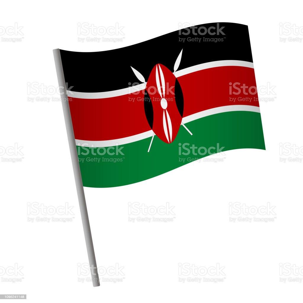 Kenia-Flaggen-Symbol. – Vektorgrafik