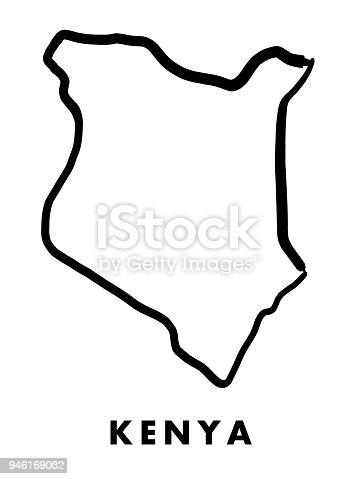 Kenya Map Outline Stock Vector Art & More Images of Africa