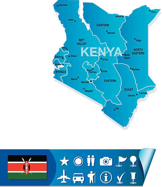 Royalty Free Kenya Map Clip Art Vector Images Illustrations - Kenya map