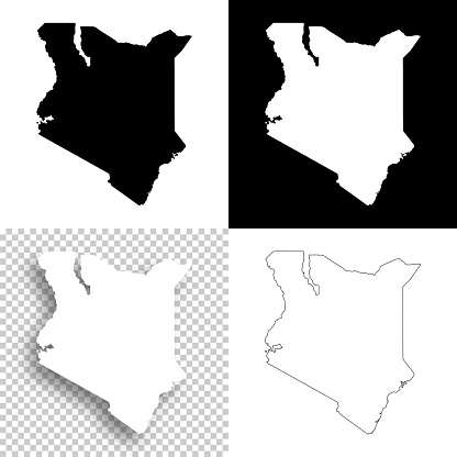 Map of Kenya for your own design. With space for your text and your background. Four maps included in the bundle: - One black map on a white background. - One blank map on a black background. - One white map with shadow on a blank background (for easy change background or texture). - One blank map with only a thin black outline (in a line art style). The layers are named to facilitate your customization. Vector Illustration (EPS10, well layered and grouped). Easy to edit, manipulate, resize or colorize. Please do not hesitate to contact me if you have any questions, or need to customise the illustration. http://www.istockphoto.com/portfolio/bgblue