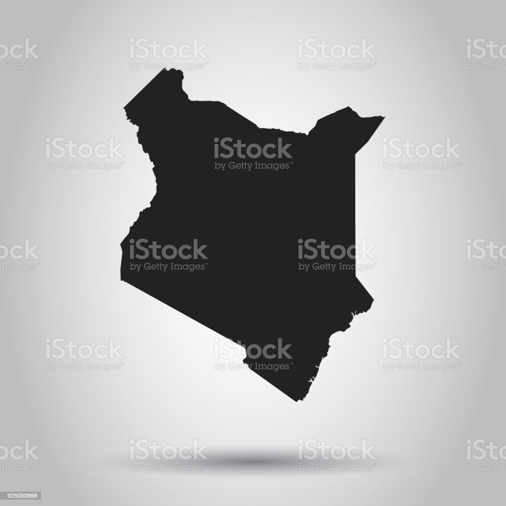 Kenya vector map black icon on white background stock vector art kenya vector map black icon on white background royalty free kenya vector map gumiabroncs Images