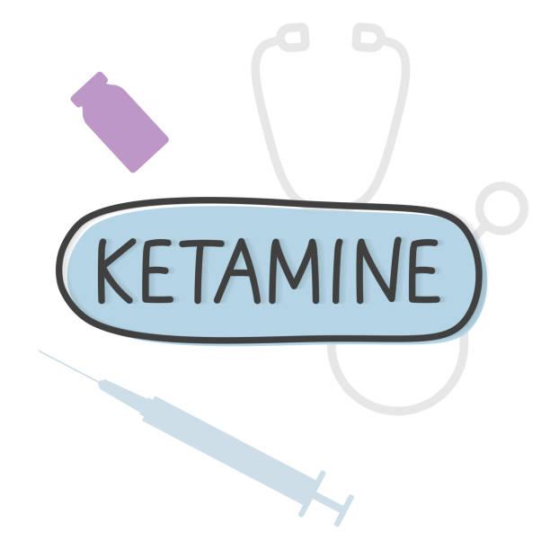 stockillustraties, clipart, cartoons en iconen met ketamine woordconcept - ketamine