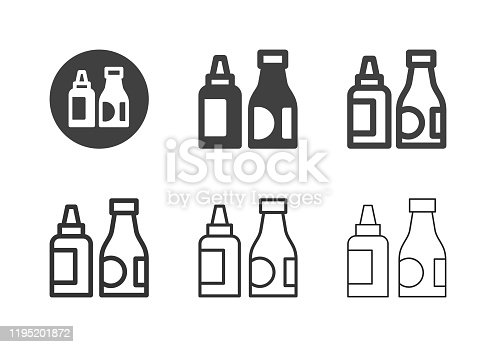 Ketchup Icons Multi Series Vector EPS File.