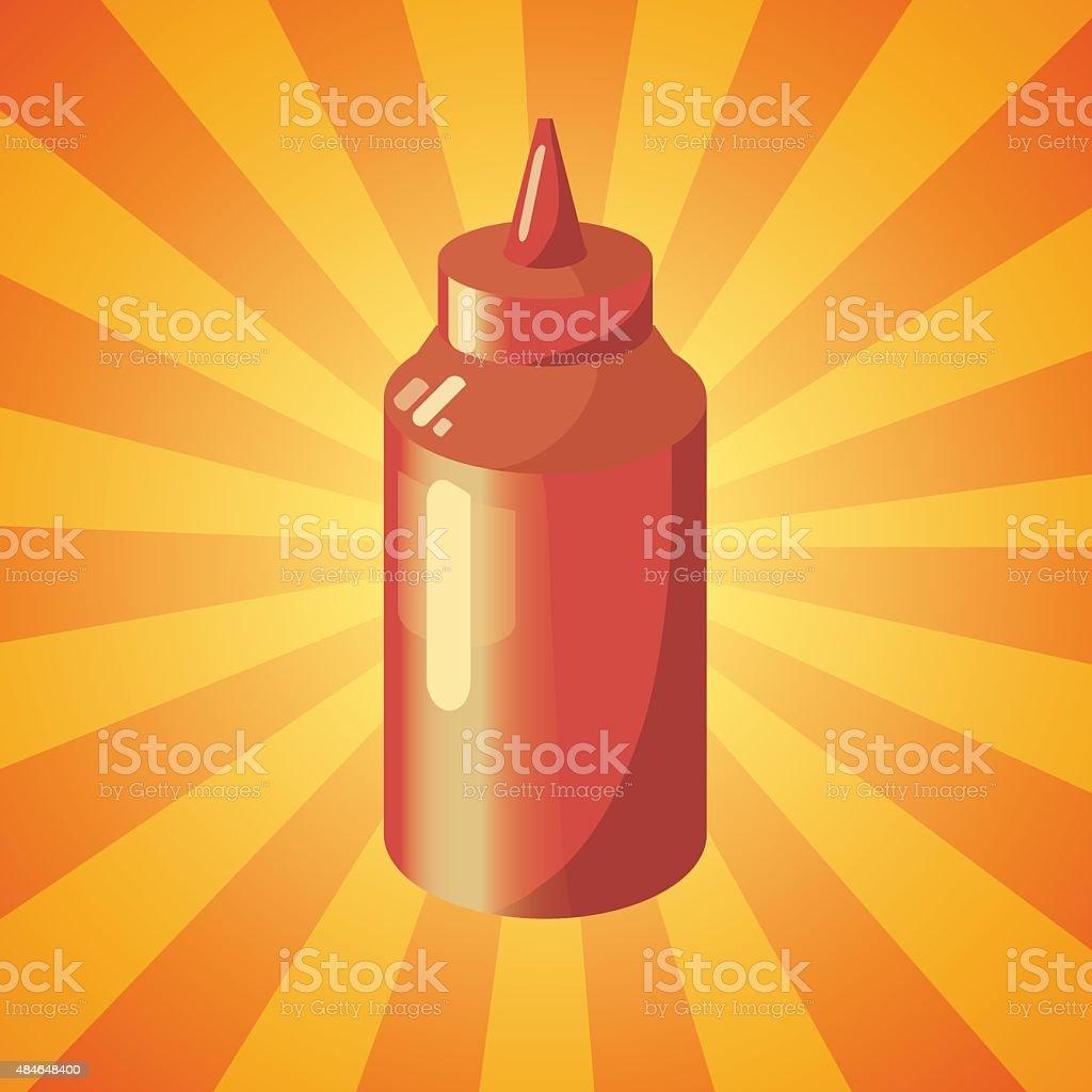 ketchup vector art illustration