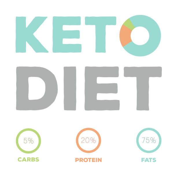 Ketogenic diet food, high healthy fats vector art illustration