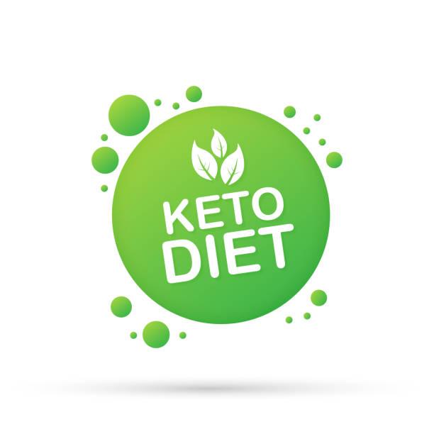 ilustrações, clipart, desenhos animados e ícones de sinal ketogenic do logotipo da dieta. dieta de keto. ilustração do vetor. - dieta paleo