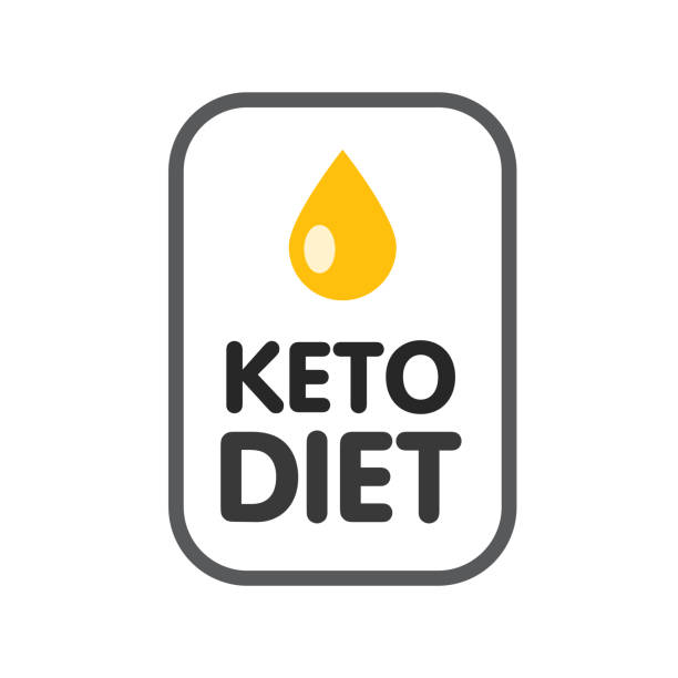 ketogenic diet logo sign keto icon stamp illustration - paleo diet stock illustrations, clip art, cartoons, & icons
