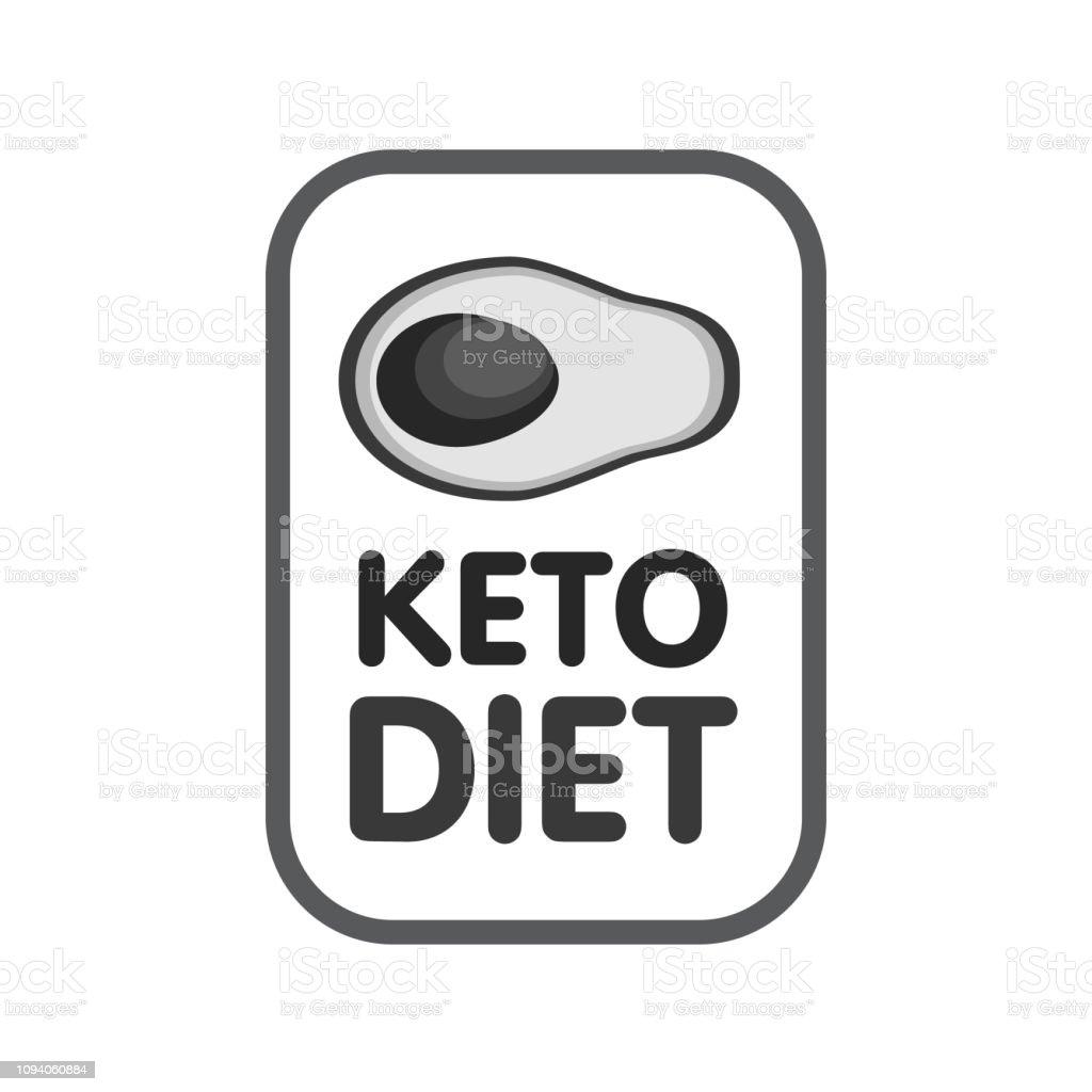 Ilustración de sello de icono de dieta ketogénica logo signo keto - ilustración de arte vectorial