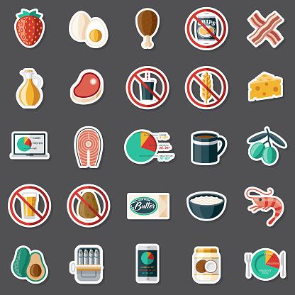 Ketogenic Diet Sticker Set