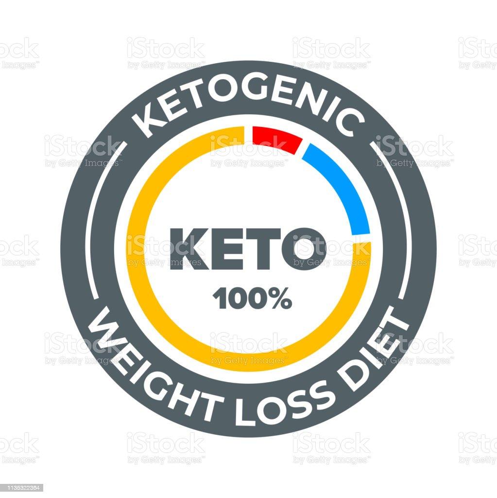 Ilustración de Etiqueta Vectorial De Dieta Cetogénica 100