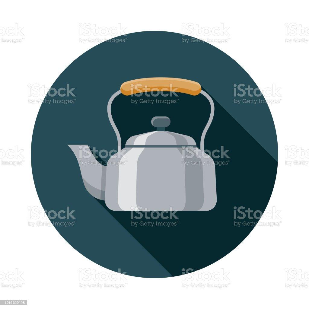 Kettle Flat Design Breakfast Icon vector art illustration