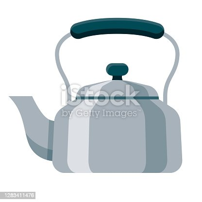 istock Kettle Icon on Transparent Background 1283411476