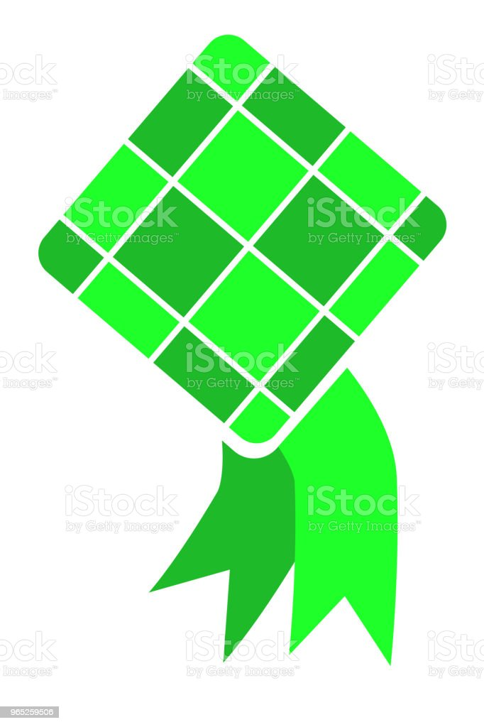 ketupat (indonesia traditional food) royalty-free ketupat stock vector art & more images of asia