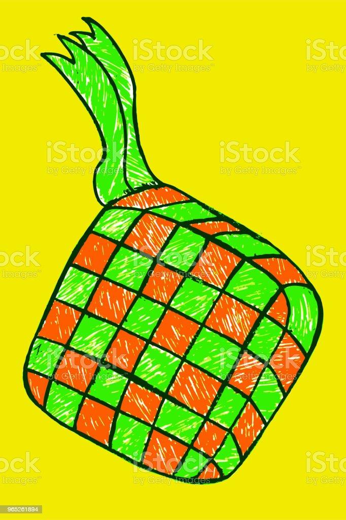 ketupat (indonesia traditional food) ketupat - stockowe grafiki wektorowe i więcej obrazów azja royalty-free