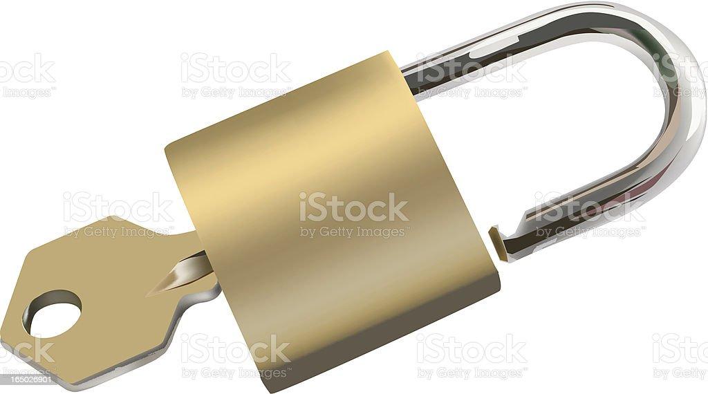 key and lock royalty-free stock vector art