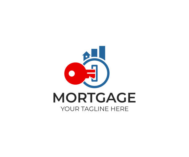 Key and real estate from graph logo design. Mortgage and chart from buildings vector design. Finance and property illustration vector art illustration