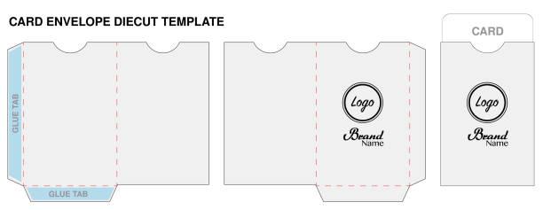 key card envelope die-cut template mockup vector key card envelope die-cut template mockup vector cardkey stock illustrations