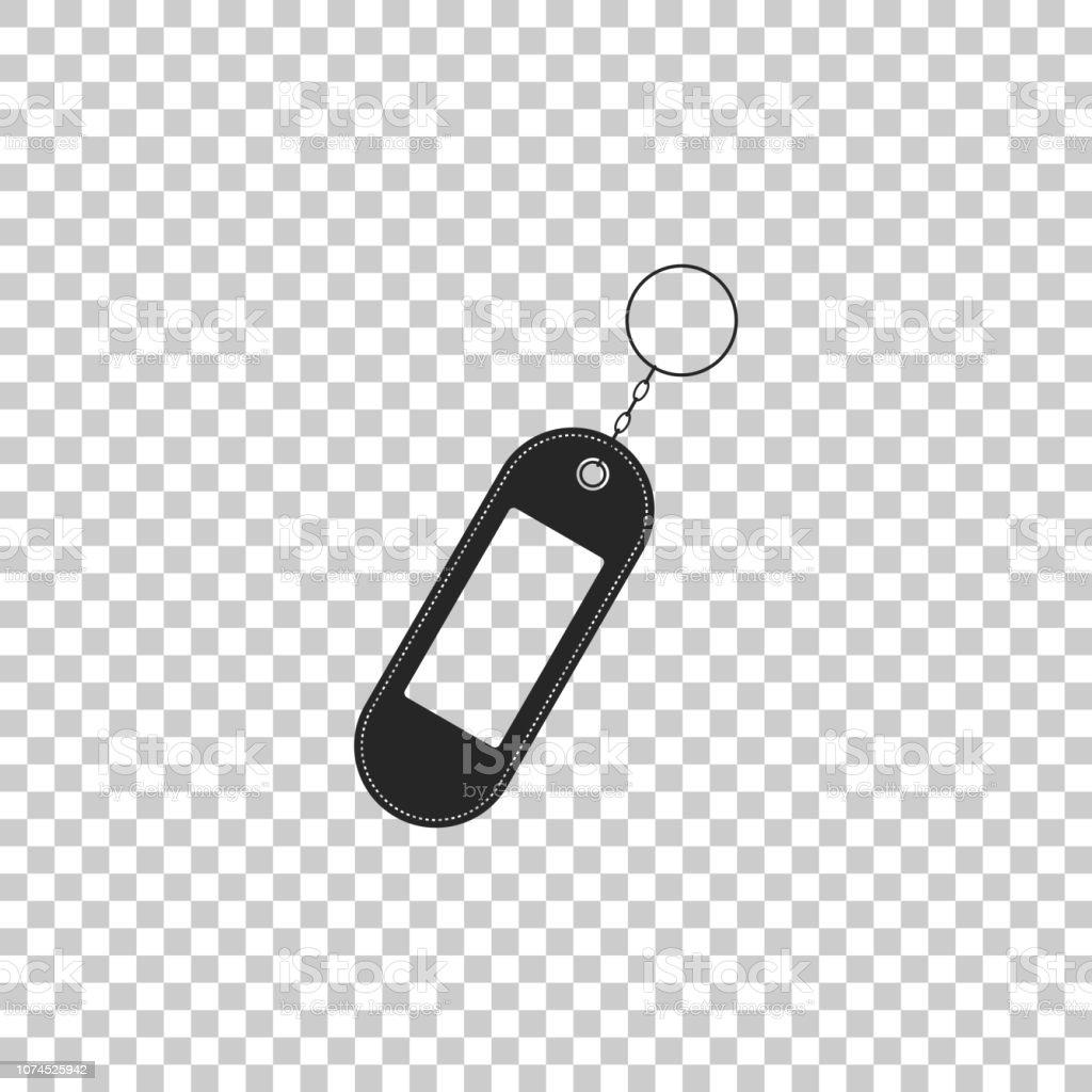 Key Chain Icon Isolated On Transparent Background Blank Rectangular