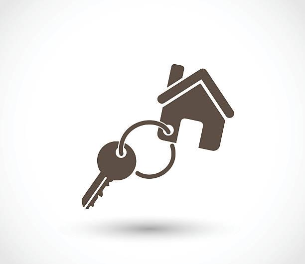 Key for a house icon vector illustration Key for a house icon  - simple vector illustration isolated on white background house key stock illustrations