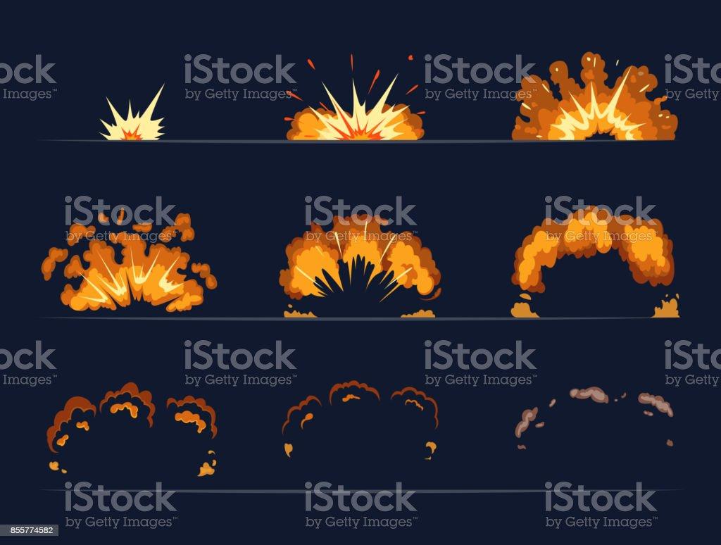 Ilustración de Fotogramas Clave De La Explosión De La Bomba ...