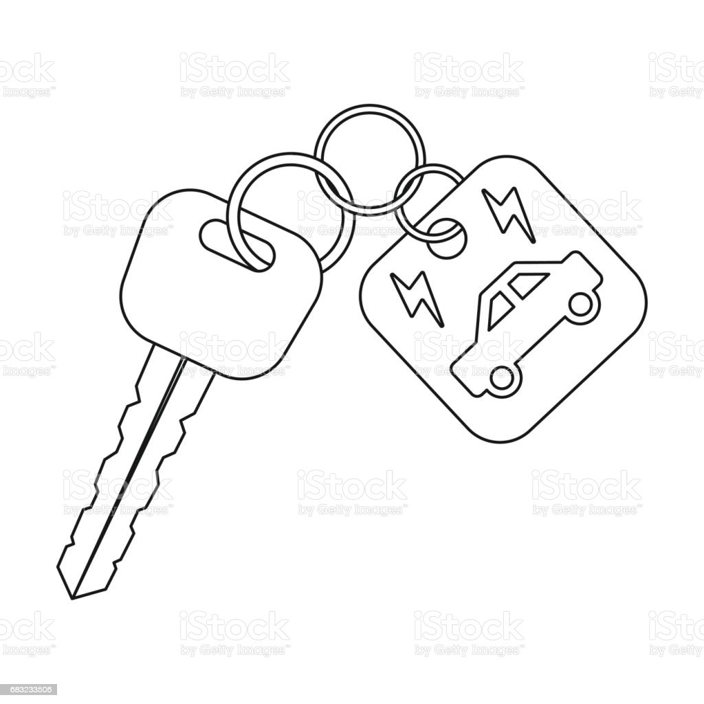 Key from eco car icon in outline style isolated on white background. Bio and ecology symbol stock vector illustration. royalty-free key from eco car icon in outline style isolated on white background bio and ecology symbol stock vector illustration 0명에 대한 스톡 벡터 아트 및 기타 이미지