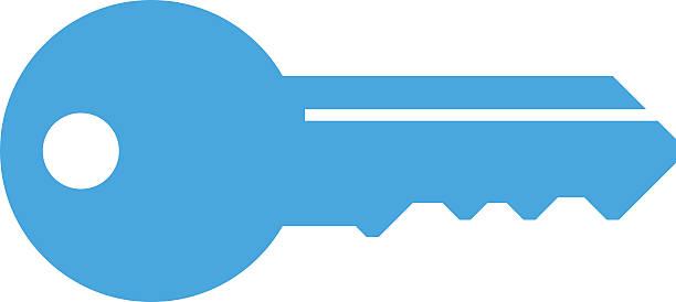 key icon, modern minimal flat design style, vector illustration - keys stock illustrations, clip art, cartoons, & icons