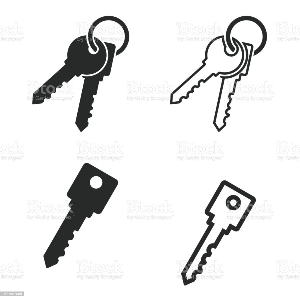 Key icon set. royalty-free key icon set stock vector art & more images of administrator