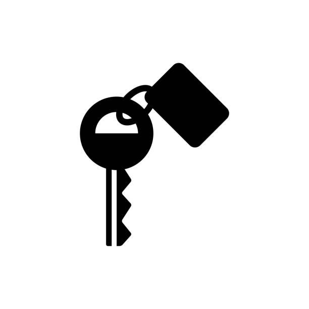 Key Icon Key icon in black color car key stock illustrations