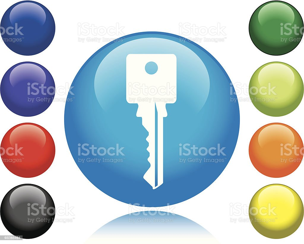 Key Icon royalty-free key icon stock vector art & more images of black color