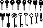 Key Icons Set - illustration