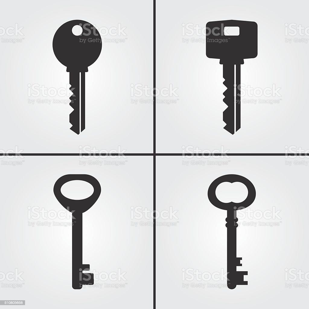 Key Icons vector art illustration