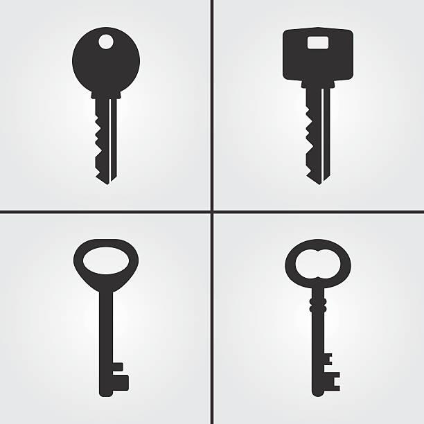 key icons - keys stock illustrations, clip art, cartoons, & icons