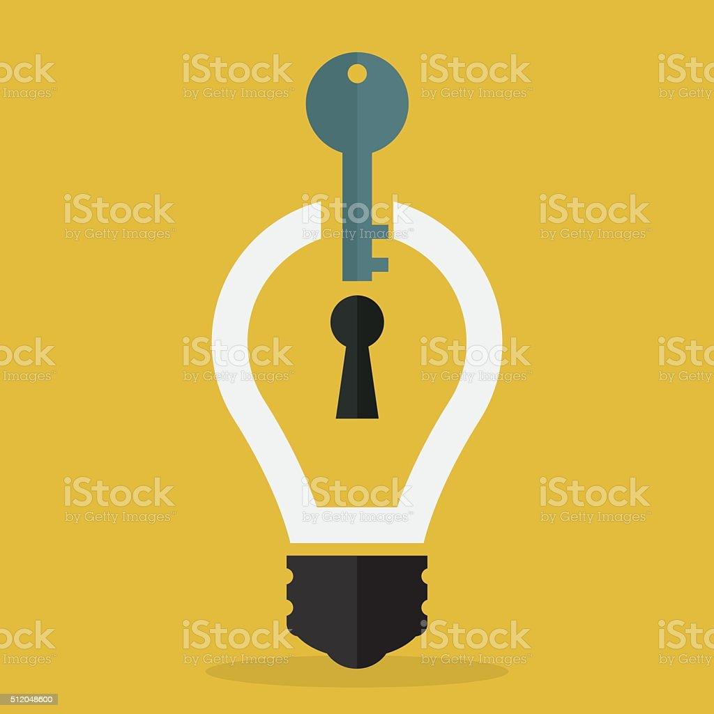 key idea concept vector art illustration