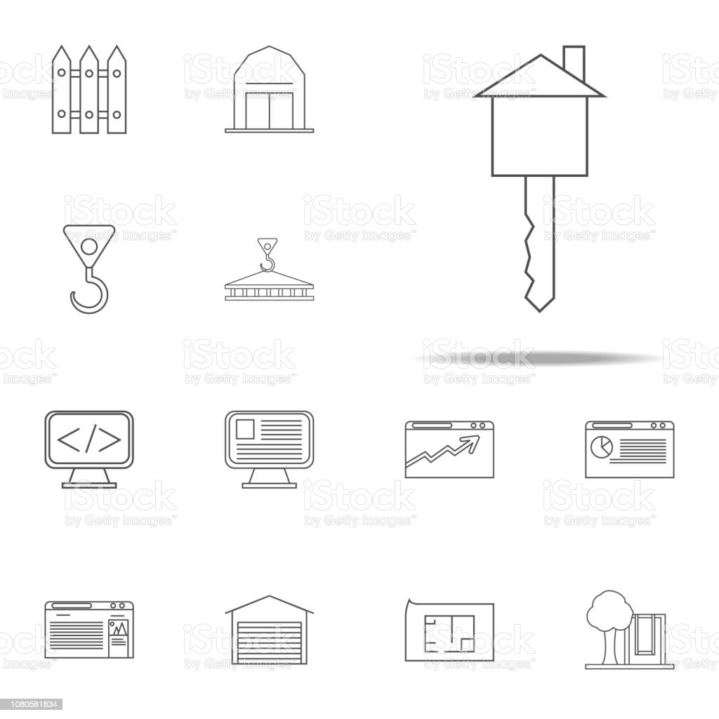 Key In The Form Of A House Icon Web Icons Universal Set For Web And