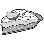Key Lime Pie Illustration