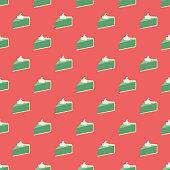 Key Lime Pie Seamless Pattern