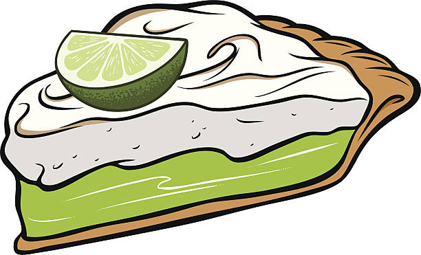 Royalty free key lime pie slice clip art vector images key lime pie vector art illustration voltagebd Image collections