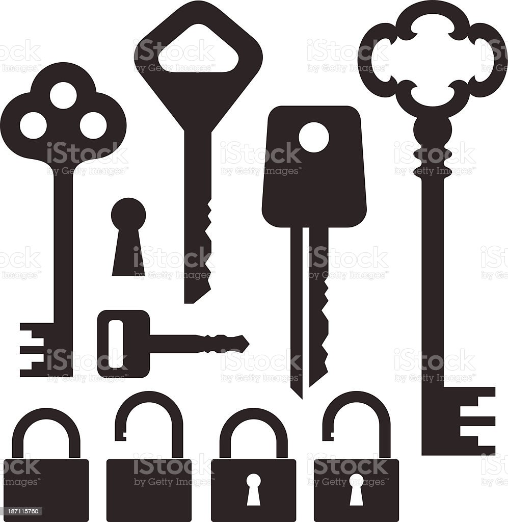 Key. Lock royalty-free stock vector art