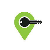 key map pin. eps 10 vector file