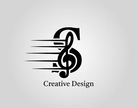 Key Note S Letter Logo Vector.