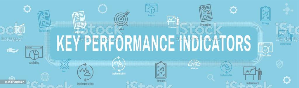 Kpi Key Performance Indicators Web Header Banner And Icon