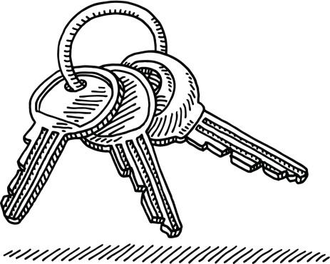 Key Ring Drawing