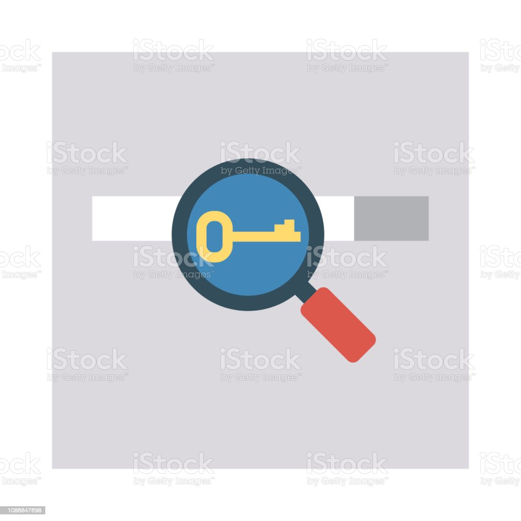 Key Search Browser Stock Illustration - Download Image Now