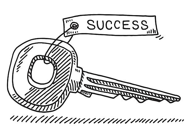 Best Key To Success Illustrations, Royalty-Free Vector