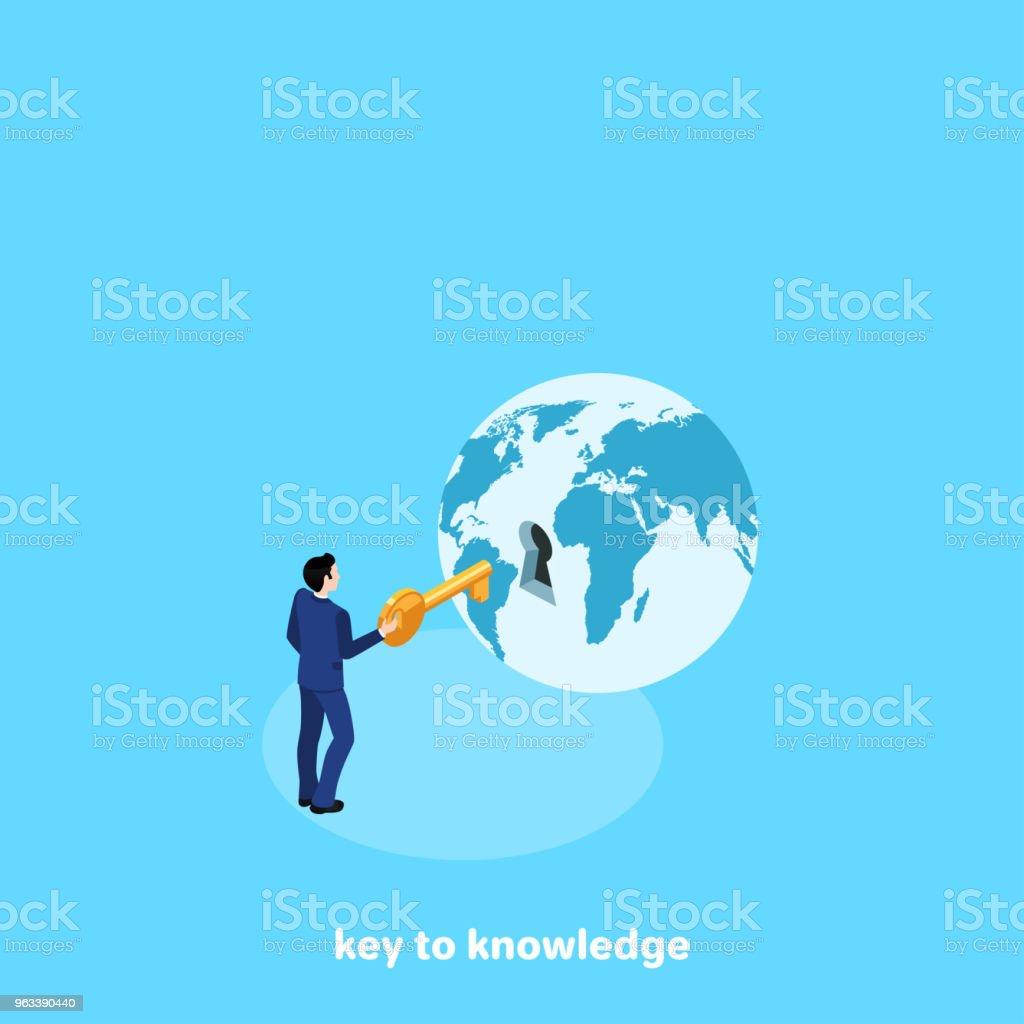 kluczem do wiedzy - Grafika wektorowa royalty-free (Globus - Wyposażenie do nawigacji)