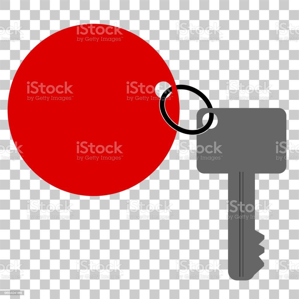 clé avec une étiquette rouge, au fond de l'effet de transparence - clipart vectoriel de Affaires libre de droits