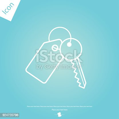 istock Key with tag line icon 924720796