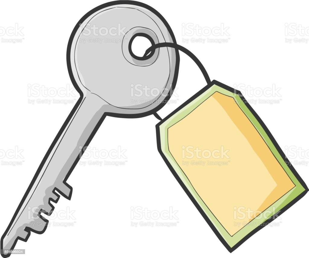 royalty free silver key chain with blank tag clip art vector images rh istockphoto com tag clip art free tag clip art downloads