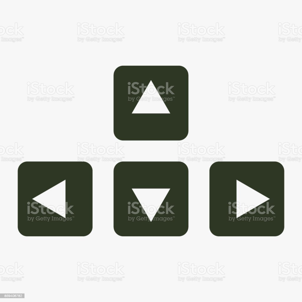 Keyboard Arrows Vector Icon Stock Vector Art More Images Of Arrow
